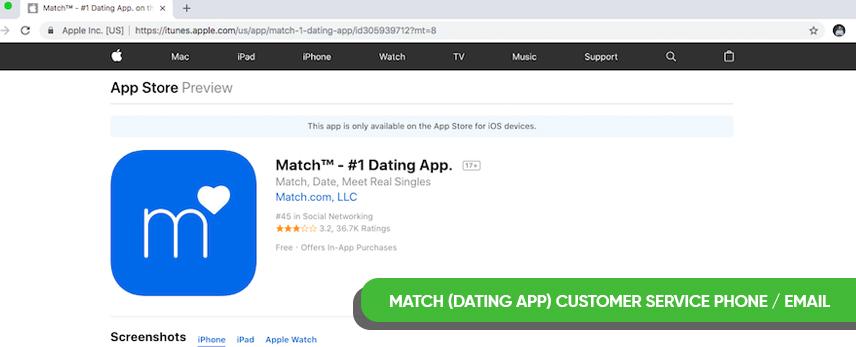 Match com customer service email address